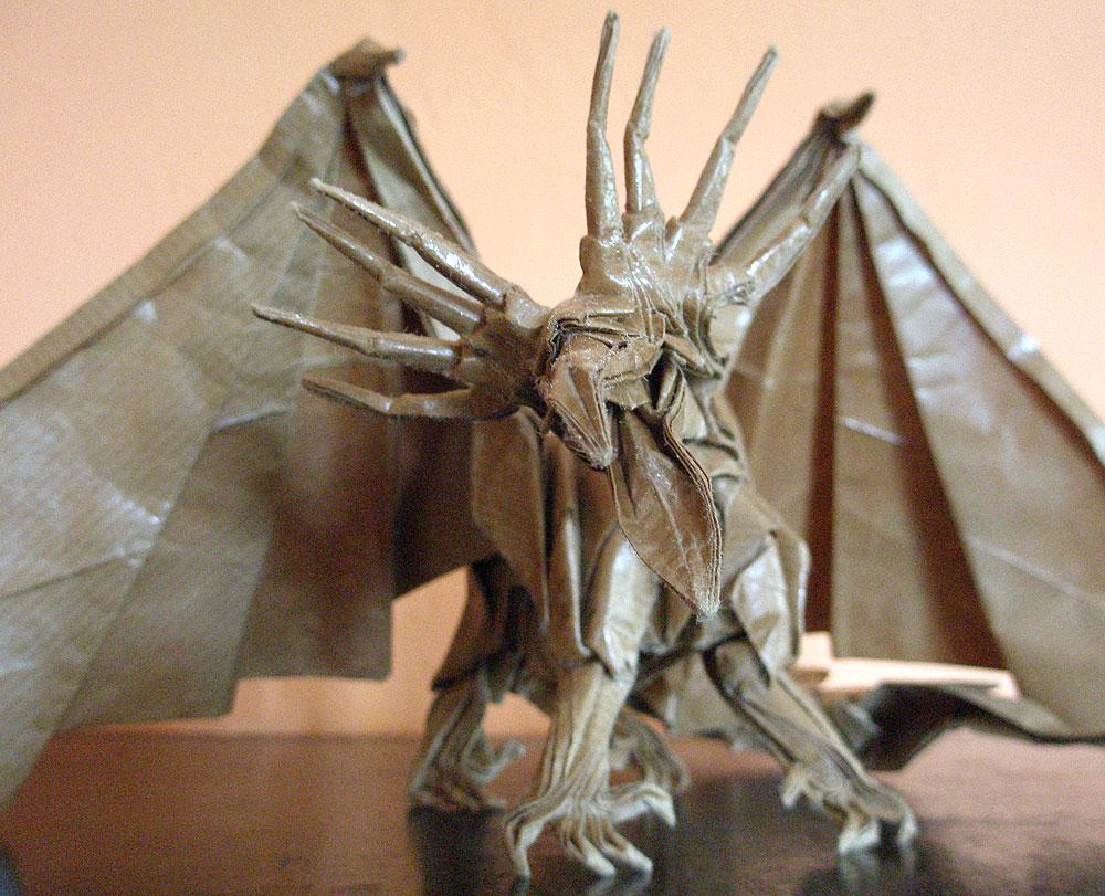The Origami Forum View Topic Artur Biernacki Fearsome Ancient Dragon Designed By Satoshi Kamiya No Online Diagrams Http Foldersjp Cgi Bin Jn Img 44