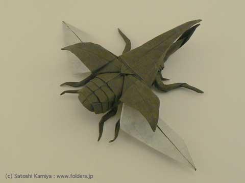 簡単 折り紙 : ヘラクレスオオカブト 折り紙 : folders.jp