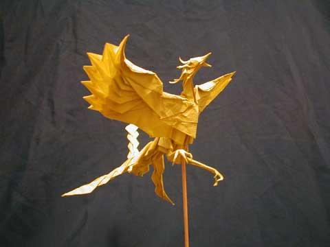 ハート 折り紙:折り紙 鳳凰 折り方-folders.jp